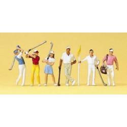 Jugadores de golf.