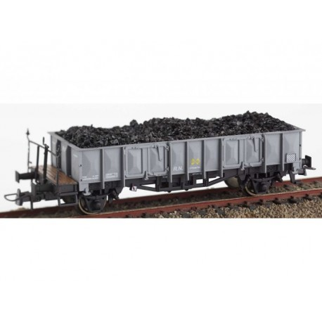 "RENFE open wagon ""X1"" with coal load. KTRAIN 0704J"