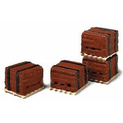 Pallets of bricks.