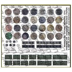Alcantarillas, pegatinas. BLAIR LINE LLC 162