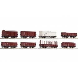 Set de 8 vagones de mercancía, OBB. ROCO 44006