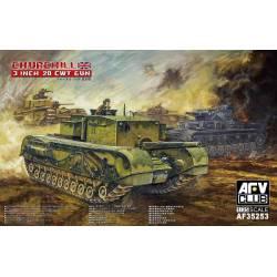 British 3 inch Gun Churchill Tank. AFV CLUB 35253