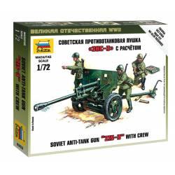 Soviet anti tank gun.