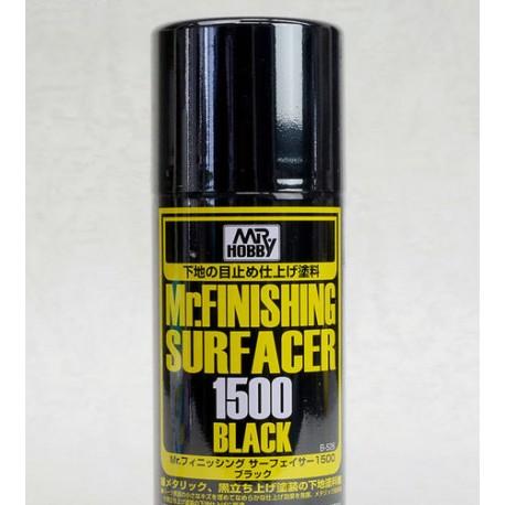 Mr Surfacer 1500, Spray. Negro. MR HOBBY B526