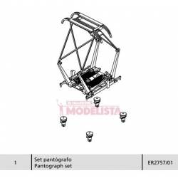 Pantograph for series 277 RENFE. ELECTROTREN 2757/01