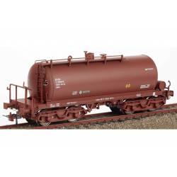 Cisterna de bogies rojo óxido RR-310114, RENFE.