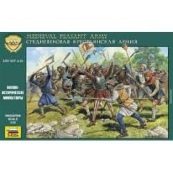 Medieval peasant army. ZVEZDA 8059