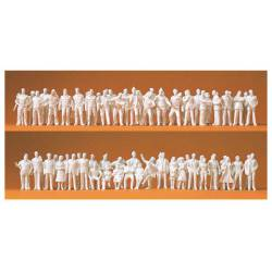 190 unpainted figures. PREISER 74090