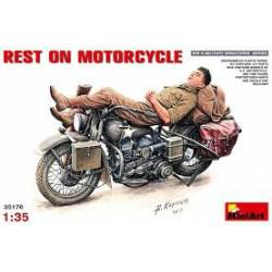Rest on motorcycle.