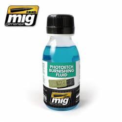 Photoetch burnishing fluid. AMIG 2021