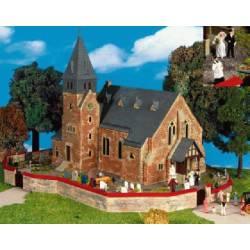 Set Iglesia y muro de piedra. KIBRI 39766