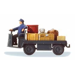 Transportando maletas.