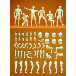 6 figuras masculinas desnudas. PREISER 63900