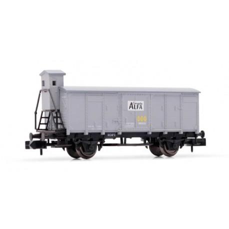 Vagón cerrado Cementos Alfa, RENFE. ARNOLD HN6353