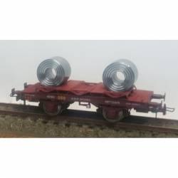 Vagón bobinero MB-153079, RENFE.