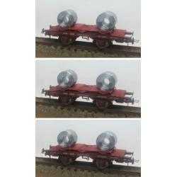 Set de 3 vagones bobineros, RENFE.