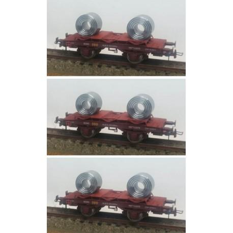 Set de 3 vagones bobineros, RENFE. KTRAIN 0755A