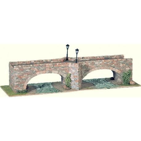 Puente de piedra de dos arcos. DOMUS KITS 40253