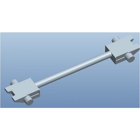 Set de 10 enganches de barra recta, 17,5mm. MFTRAIN 83033