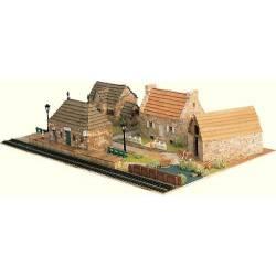 Diorama: Pueblo con estación.
