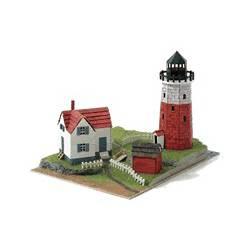 Diorama: Faro costero con vivienda.