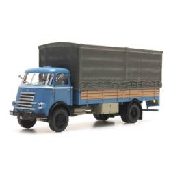 DAF, canvas cover truck. Blue.040.
