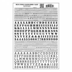 Transferibles: Stencil y Block Roman, negro. WOODLAND MG751