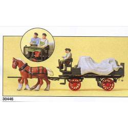 Wagon with tarpaulin. PREISER 30446