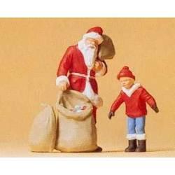 Santa Claus y un niño. PREISER 65335