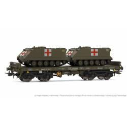 Vagón plataforma Rmms, con 2 TOA.