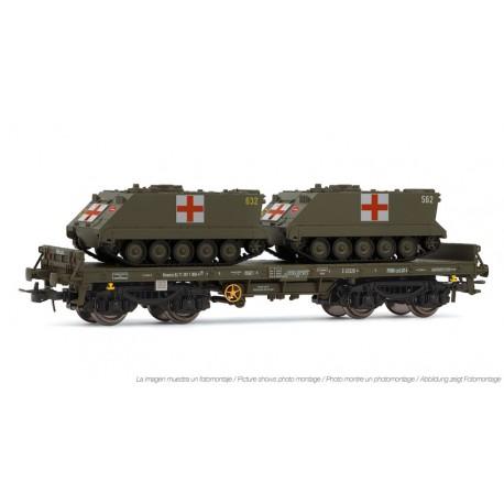 Vagón plataforma Rmms, con 2 TOA. ELECTROTREN 5174