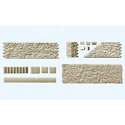 Muro y pavimento de piedra, kit. PREISER 18219