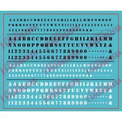 Letras y cifras: Estarcido. ETM 9035