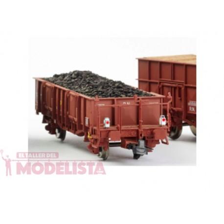 """Vagón abierto """"X1"""" rojo ox. con luz de cola, RENFE. KTRAIN 0704L"""