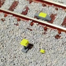 Set de 6 detectores y balizas de RENFE.