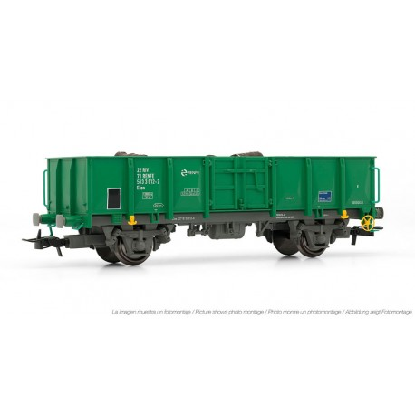 Vagón abierto RENFE, con chatarra. ELECTROTREN 1262