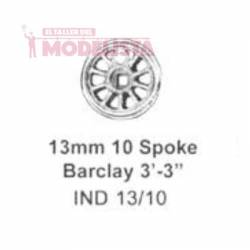 Driving wheel, 10 spokes, 13 mm. MARKITS IND13/10i