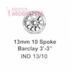 Rueda de 10 radios, 13 mm. MARKITS IND13/10i