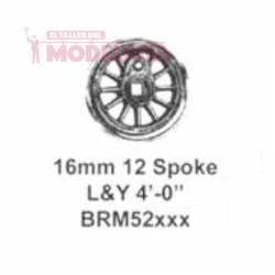 Driving wheel, 12 spokes, 16 mm. MARKITS BRm52xxxi