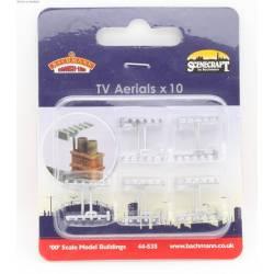 TV aerials (x10). SCENECRAFT 44-535