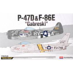 "P47D&F-86E ""Gabreski"". ACADEMY 12530"