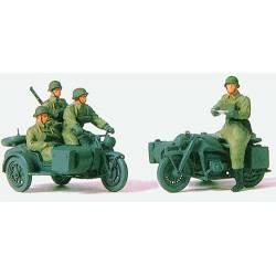 Mounted motorcyle crew. PREISER 72538