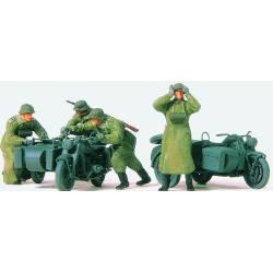 Motos y soldados. PREISER 72539