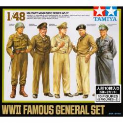Military famous Generals set, WWII. TAMIYA 32557