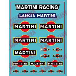 Decals for Lancia Delta, Martini.