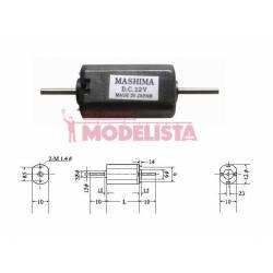 Motor de corriente continua, 20mm. MASHIMA MHK-1020D