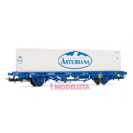 Wagon type Lgs, loaded w/ container. RENFE. ELECTROTREN 1465