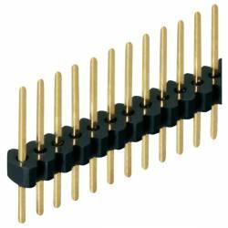 40-pin strip 1.27 mm round male header. ETM E002