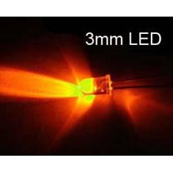 3 mm orange led (x50)