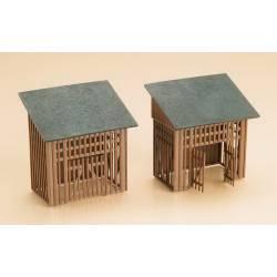 2 sheds.